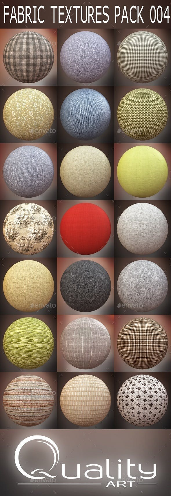 FABRIC TEXTURES PACK 004 - 3DOcean Item for Sale
