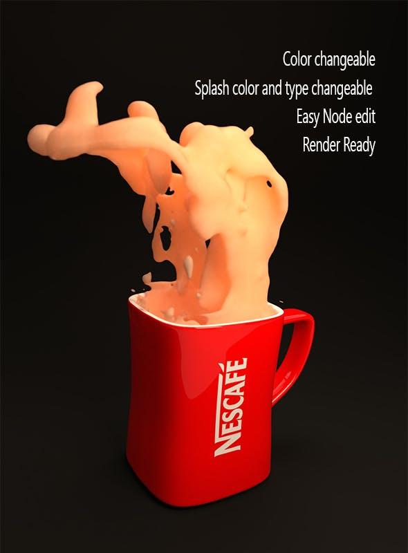 Coffe Mug with custom logo  - 3DOcean Item for Sale