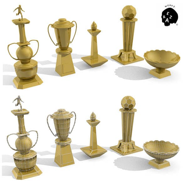 trophy options - 3DOcean Item for Sale
