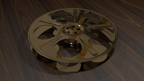 Film Reel - 5-Holed Film Reel 3D Object - 3DOcean Item for Sale