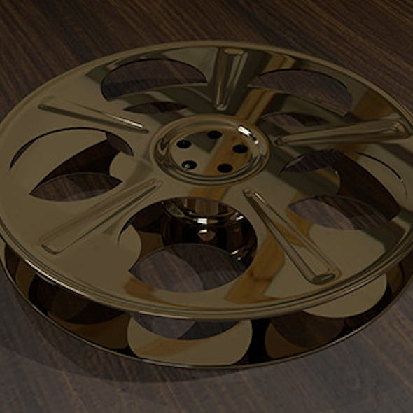 Film Reel - 5-Holed Film Reel 3D Object