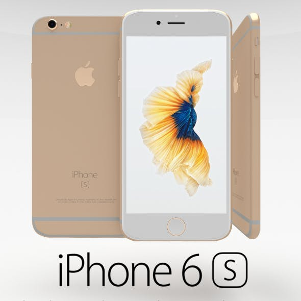 Iphone 6S Gold - 3DOcean Item for Sale