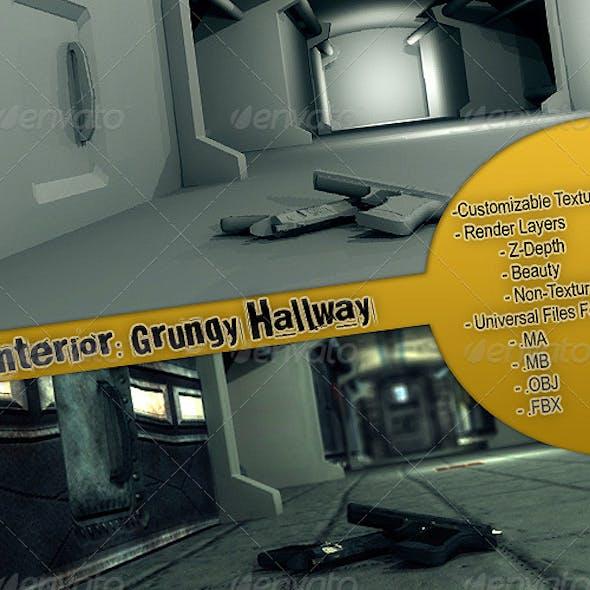 Interior: Grungy Hallway