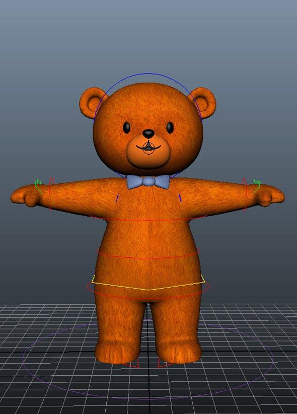 Bear Character Rig and Model by ahmarnaeem5 | 3DOcean