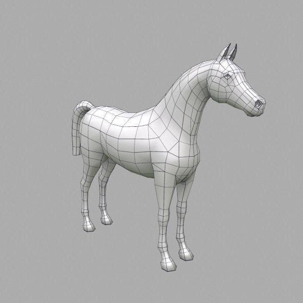 horse base mesh - 3DOcean Item for Sale