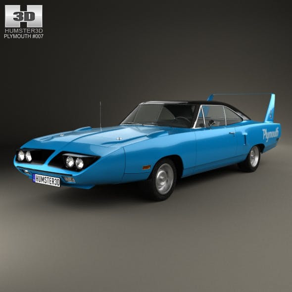Plymouth Road Runner Superbird 1970 - 3DOcean Item for Sale