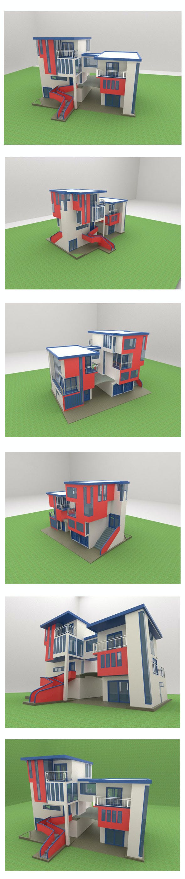 LOW POLY MANSION modern house - 3DOcean Item for Sale