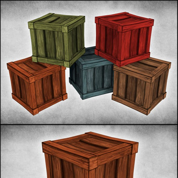 Cartoon Wood Crates
