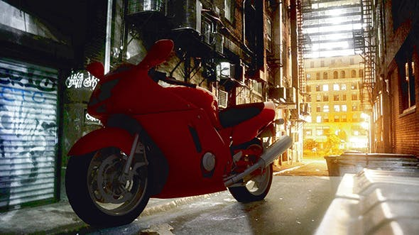 Realistic Racer Bike - 3DOcean Item for Sale