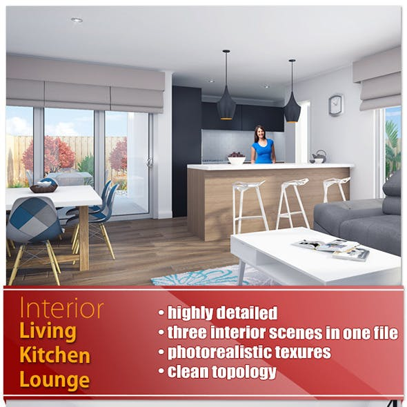 Living Dining And Kitchen- Deakin