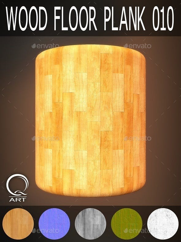 Wood Floor Plank 010 - 3DOcean Item for Sale