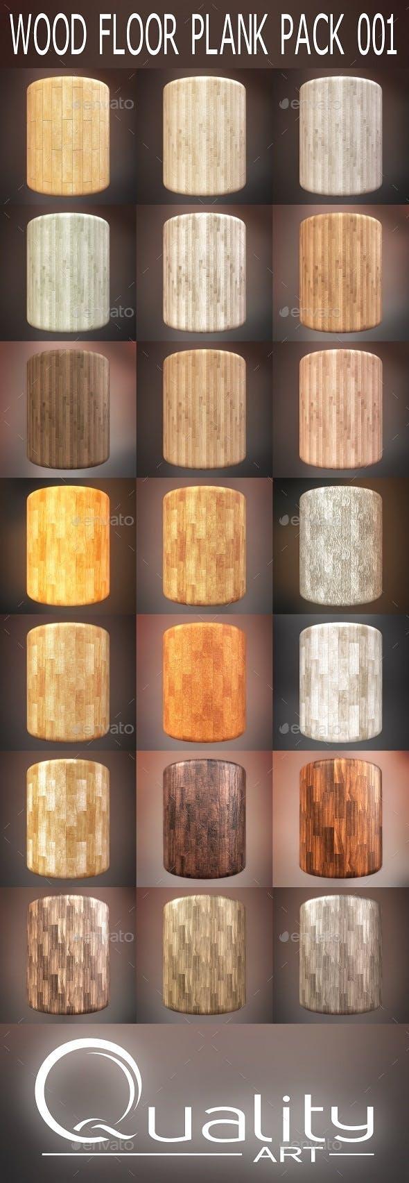 Wood Floor Plank Pack 001 - 3DOcean Item for Sale