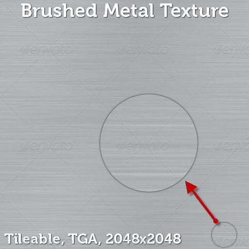 Brushed Metal Texture - 3DOcean Item for Sale