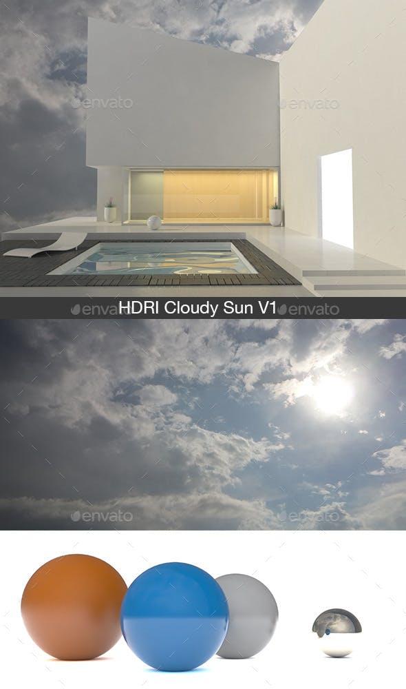 Cloudy Sun V1 - 3DOcean Item for Sale