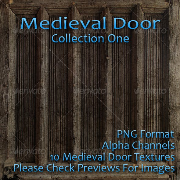 Door Collection One - Medieval Edition - 3DOcean Item for Sale