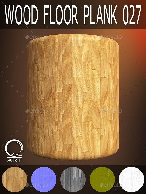 Wood Floor Plank 027 - 3DOcean Item for Sale