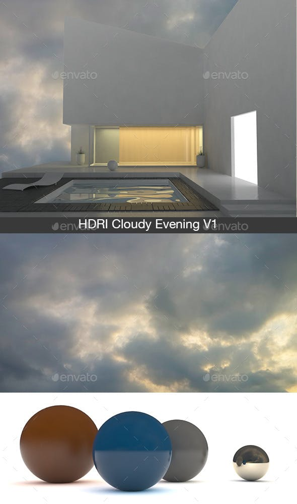 Cloudy Evening V1   - 3DOcean Item for Sale