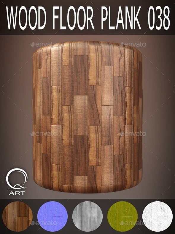 Wood Floor Plank 038 - 3DOcean Item for Sale