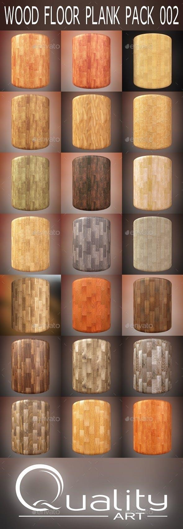 Wood Floor Plank Pack 002 - 3DOcean Item for Sale