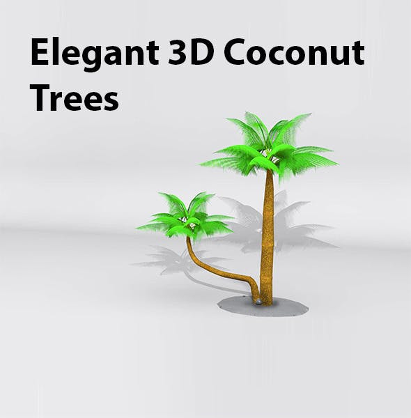 Cocout Trees - 3DOcean Item for Sale