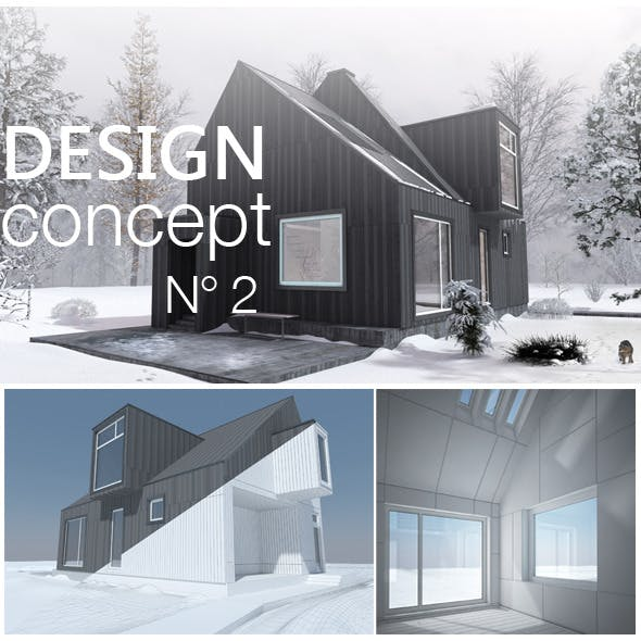 Contemporary Modern Forest Cottage - 3DOcean Item for Sale