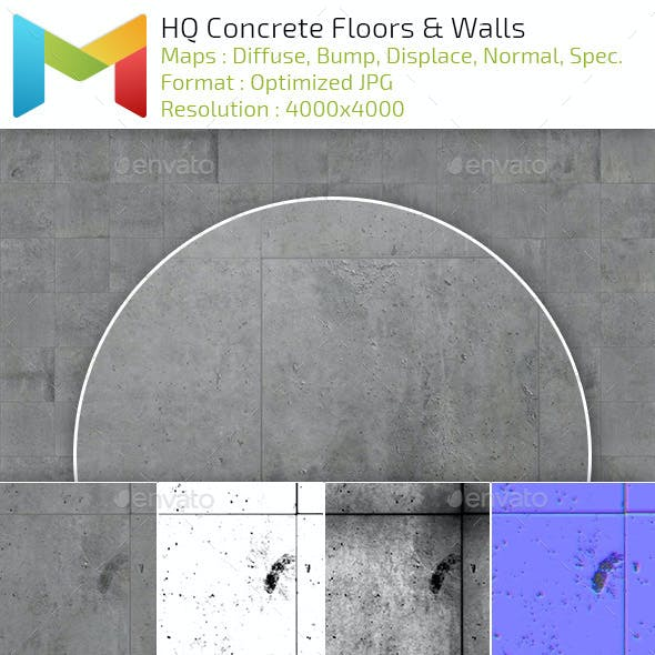 Concrete Floors and Walls HQ Textures