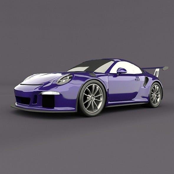 Porsche 911 gt3 rs 2015 restyled - 3DOcean Item for Sale