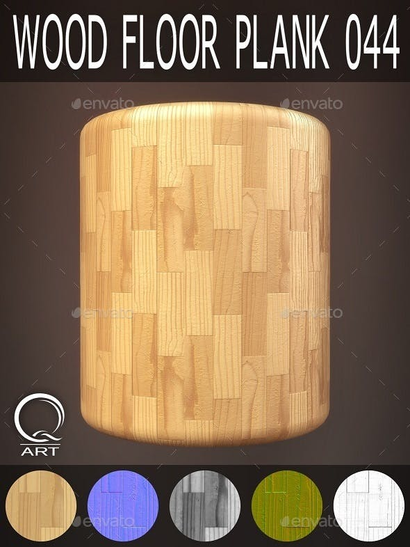Wood Floor Plank 044 - 3DOcean Item for Sale