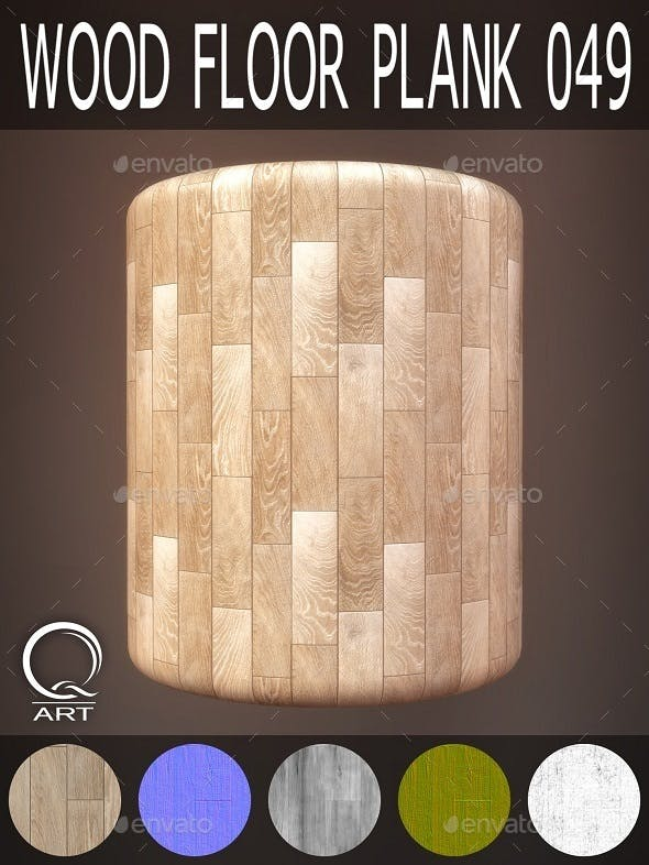 Wood Floor Plank 049 - 3DOcean Item for Sale
