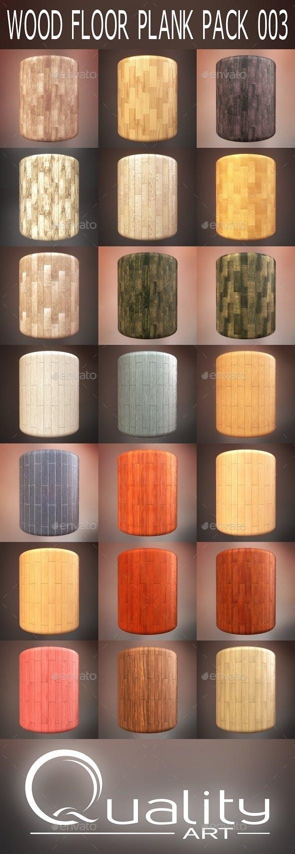 Wood Floor Plank Pack 003 - 3DOcean Item for Sale