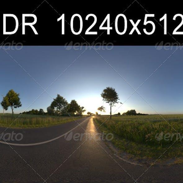 Road in fields 1