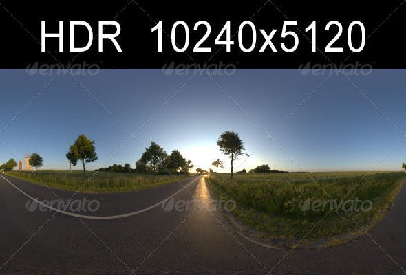 Road in fields 1 with Plates - 3DOcean Item for Sale
