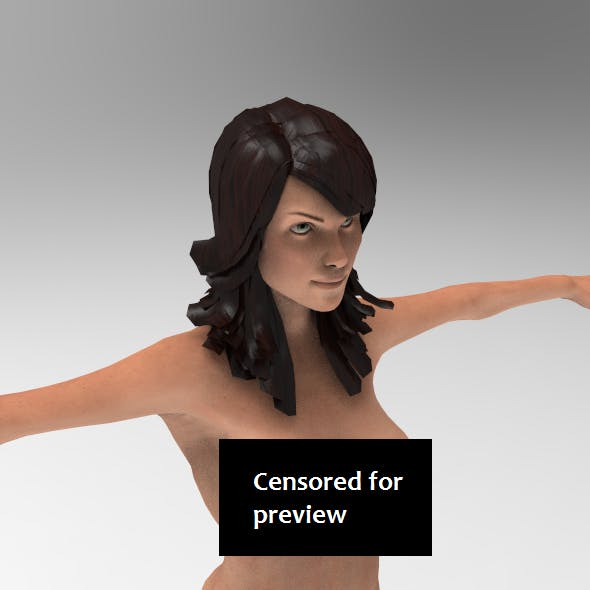 Realistic Naked pretty woman