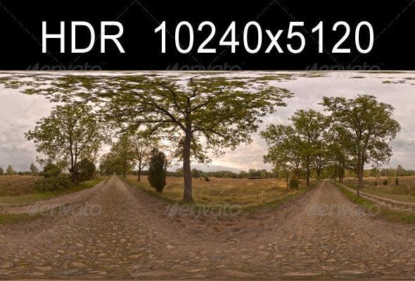 Road with Trees 2 - 3DOcean Item for Sale