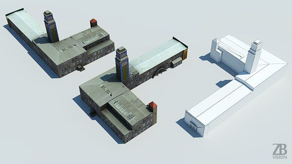 Lowpoly industrial building - 3DOcean Item for Sale