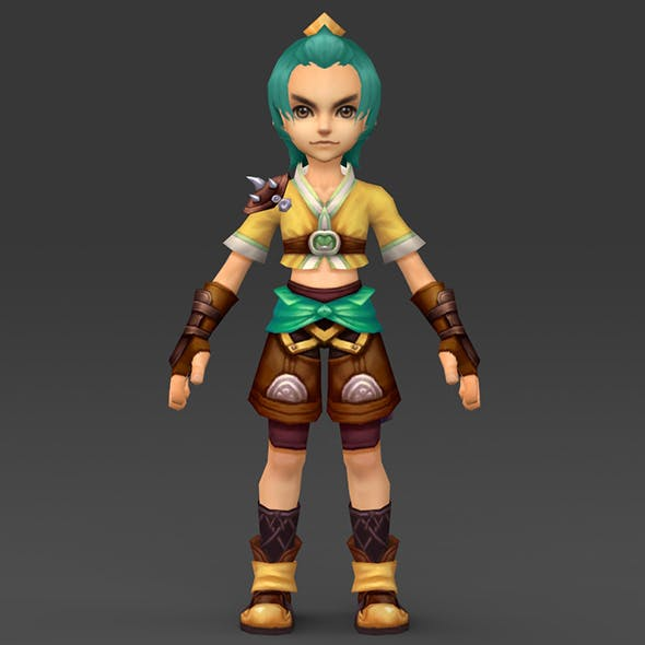 Cartoon Character Bhuli - 3DOcean Item for Sale