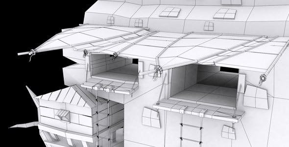 Low Poly House 2 Model - 3DOcean Item for Sale