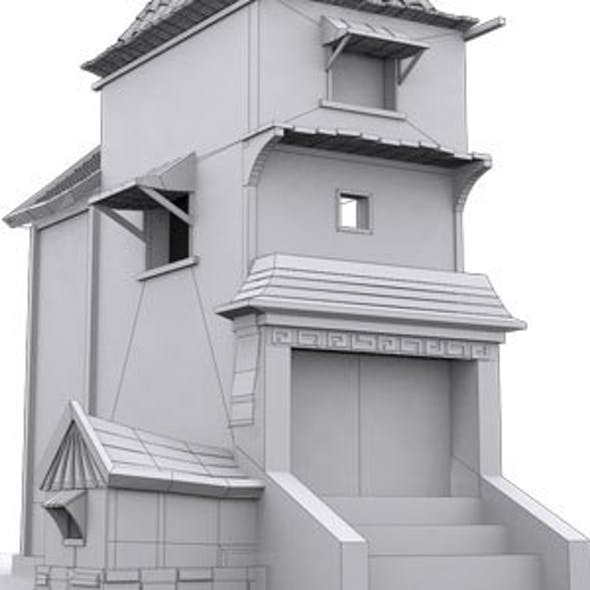 Low Poly House 3 Model