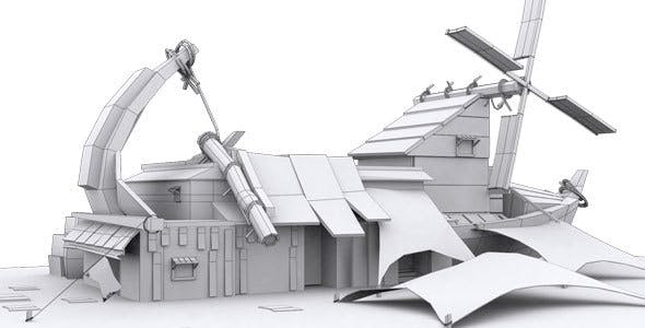Low Poly House 6 Model - 3DOcean Item for Sale