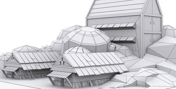 Low Poly House 8 Model - 3DOcean Item for Sale