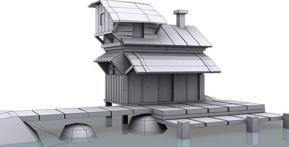Low Poly House 9 Model - 3DOcean Item for Sale