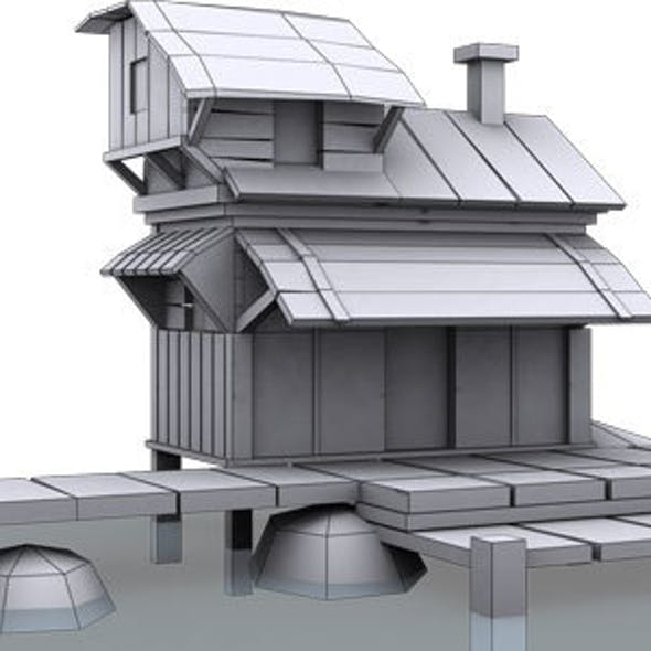 Low Poly House 9 Model