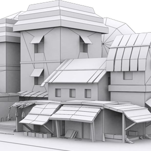 Low Poly Market Model