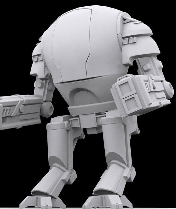 Low Poly Robot Model - 3DOcean Item for Sale