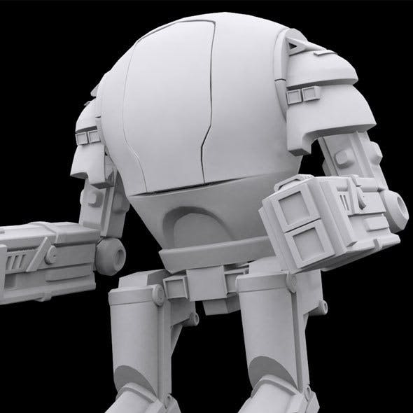 Low Poly Robot Model