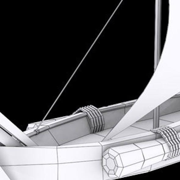 Low Poly Ship 2 Model