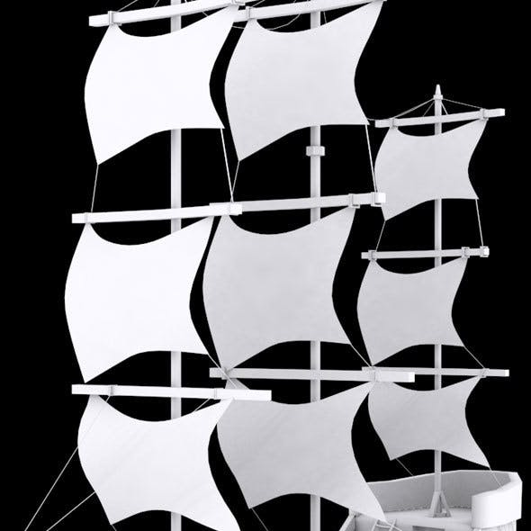 Low Poly Ship 3 Model