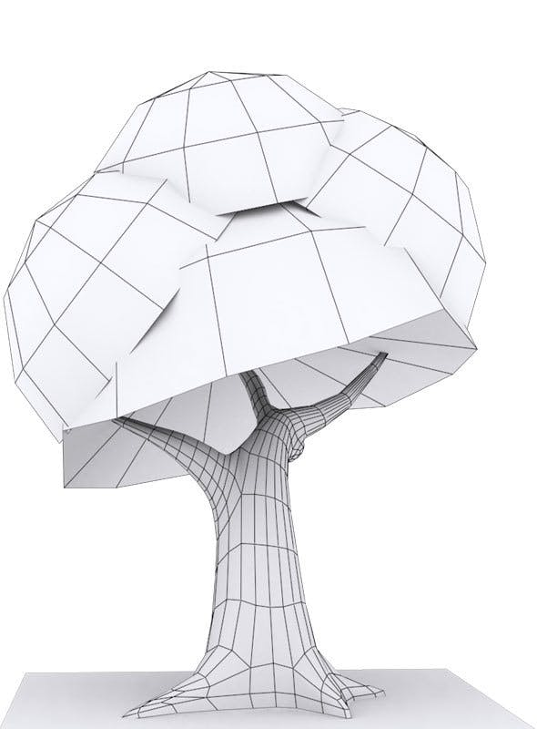 Low Poly Tree 2 Model - 3DOcean Item for Sale