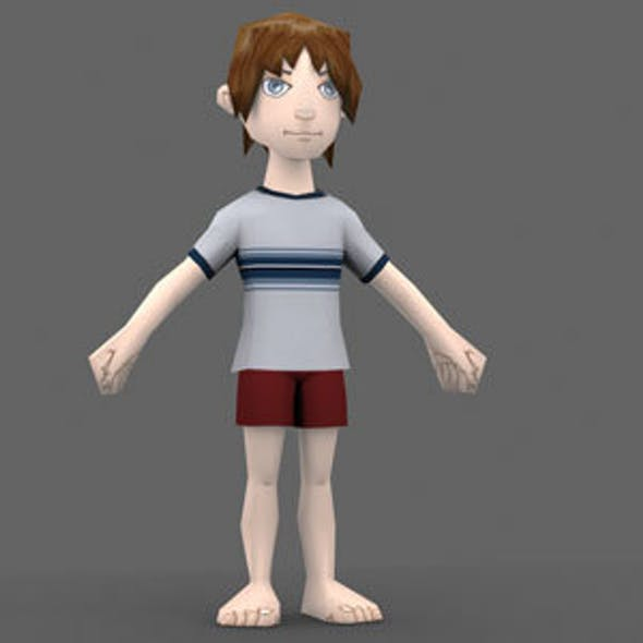 Low Poly Boy Model