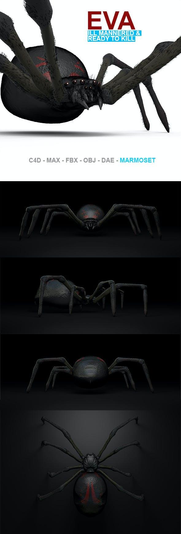 Eva High Poly Spider Model - 3DOcean Item for Sale